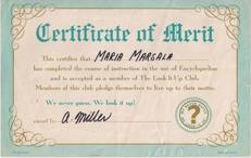 Look it Up Certificate